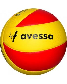 8 Panel Yapıştırma Voleybol Topu Sarı Kırmızı